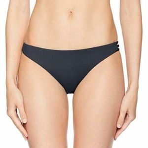 Roxy Strappy Love Surfer Bikini Bottom, Black